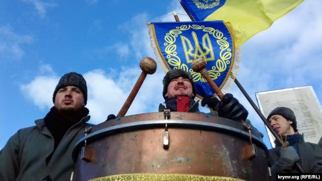 Під час відзначення Дня соборності України в Києві, 22 січня 2017 року