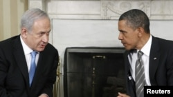 Israeli Prime Minister Binyamin Netanyahu met with U.S. President Barack Obama at the White House on May 20.