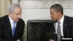 Израиль премьері Биньямин Нетаньяху мен АҚШ президенті Барак Обаманың кездесуі. Вашингтон, 20 мамыр 2011 жыл.