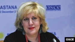 Kazakhstan -- OSCE Representative on Freedom of the Media, Dunja Mijatovic in Astana, 01Dec2010