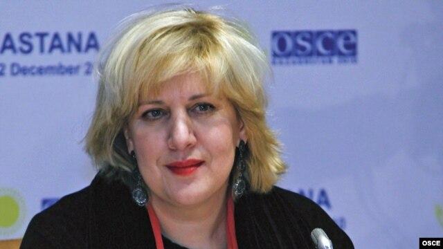 Kazakhstan -- OSCE Representative on Freedom of the Media, Dunja Mijatovic in Astana, 01Dec2010