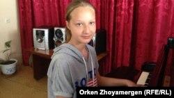 Ольга Вернигорова, ученица 7-го класса Аккольской музыкальной школы. Акмолинская область, 17 июня 2013 года.