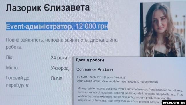 Півроку тому Єлизавета Лазорик погоджувалася змінити роботу івент-менеджера на іншу, де платитимуть 12 тисяч гривень