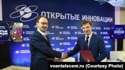 "Гендиректор ""Воентелекома"" Александр Давыдов (справа)"