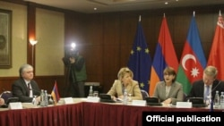 Georgia - Edward Nalbandian, Armenian Foreign Minister (L), at EU Eastern Partnership informal ministerial meeting in Tbilisi,12Feb2013