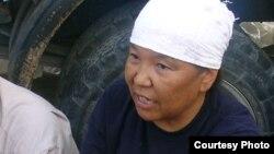 """Роза Тулетаева, бывшая работница компании """"Озенмунайгаз"""", осужденная активистка нефтяников. Жанаозен, июнь 2011 года."""