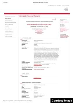 Регистрационные документы на компанию Mekato Inversiones Дмитрия Мартынова