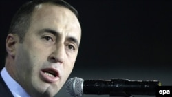 Ramush Haradinaj, the leader of the opposition party Alliance for the Future of Kosovo, in October 2009
