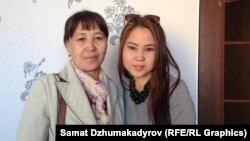 Гүлмира Абдрахманова жана кызы Ширин