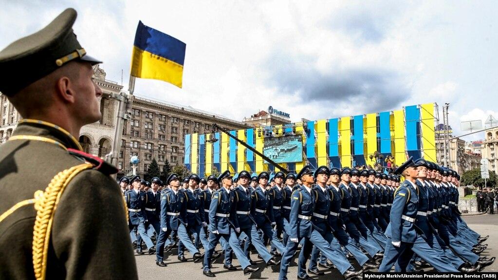 Військовослужбовці під час параду з нагоди 26-ї річниці незалежності України. Київ, 24 серпня 2017 року