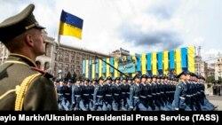 Парад войскаў Украіны іNATO ўКіеве. Фотагалерэя