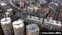 Скопје од птичја перспектива.