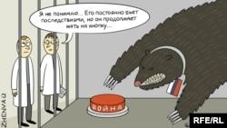Карикатура Евгении Олийнык