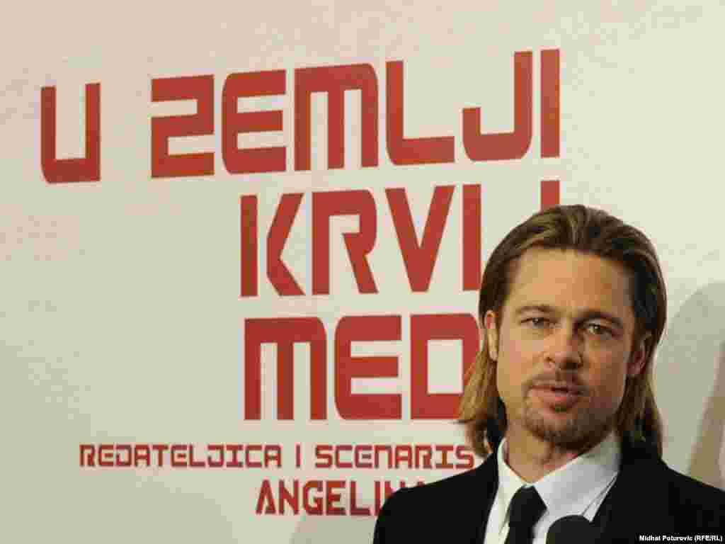 """Holivudski glumac Brad Pitt na premijeri filma """"U zemlji krvi i meda"""""""