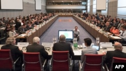 Austria -- The OSCE permanent council meets to discuss the latest flare up in violence in Nagorno-Karabakh, in Vienna, April 5, 2016
