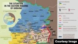 Вазъ дар ҷабҳаҳои Украина то 27 август
