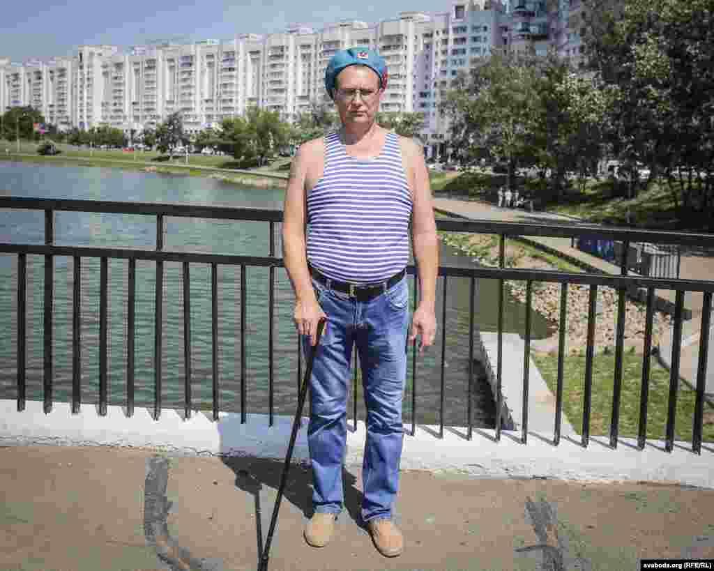 Андрэй, інвалід савецкага войска, быў кантужаны у Аўганістане
