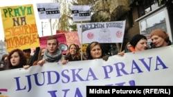 Sarajevo: Protestna šetnja povodom Dana ljudskih prava