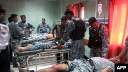 مصابون من الشرطة العراقية -الارشيف