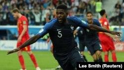 Гол Самуэля Умтити принес французам победу в матче против Бельгии