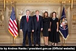 Президент США Дональд Трамп та перша леді Меланія Трамп під час зустрічі з президентом України Петром Порошенком та пані Мариною Порошенко. Нью-Йорк, 24 вересня 2018 року (Офіційне фото Білого Дому Андреа Хенкс)
