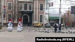 Донецьк. Окупована російськими гібридними силами територія