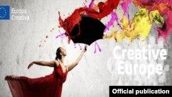 Plakat Kreativne Evrope (ilustrcija)