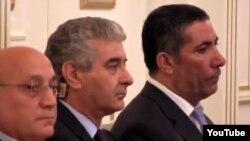 soldan sağa: Mübariz Qurbanlı, Əli Əhmədov və Siyavuş Novruzov