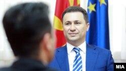Средба на премиерот и претседател на ВМРО-ДПМНЕ Никола Груевски и претседателот на СДСМ Зоран Заев.