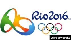 Логотип Олимпийских игр в Рио-де-Жанейро.