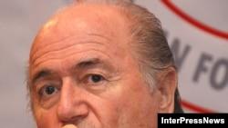 Глава ФИФА Зепп Блаттер, Тбилиси, 12 октября 2008