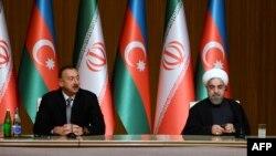 İlham Əliyev və Hassan Rouhani.