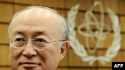 "Newly elected Director-General Yukiya Amano said the IAEA ""a lot of difficult challenges."""