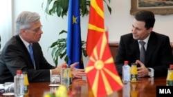 Средба на премиерот Никола Груевски со високиот комесар за национални малцинства на ОБСЕ Кнут Волебек