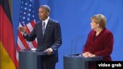Президент США Барак Обама и канцлер Германии Ангела Меркель. Бердин, 17 ноября 2016 года.