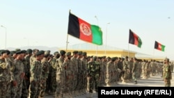 An Afghan army graduation ceremony in Kandahar on October 23.
