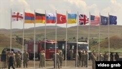 La exercițiul militar Noble Partner 2017, Vaziani