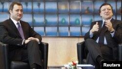 Jose Manuel Barroso și Vlad Filat la sediul UE de la Bruxelles