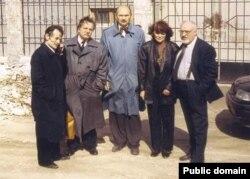 Зліва направо: Мустафа Джемілєв, Микола Горбаль, Андрій Григоренко, Сафінар Джемілєва, Генріх Алтунян