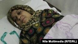 مصابة نتيجة انفجار في محطة مترو حلمية الزيتون في القاهرة 12 تشرين 2