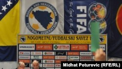 Members of the Bosnia-Herzegovnina soccer federation on March 29