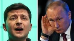 Зеленський (л) та Путін (п) вперше поговорили телефоном 11 липня