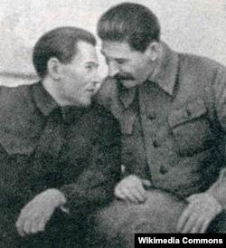Микола Єжов і Йосип Сталін