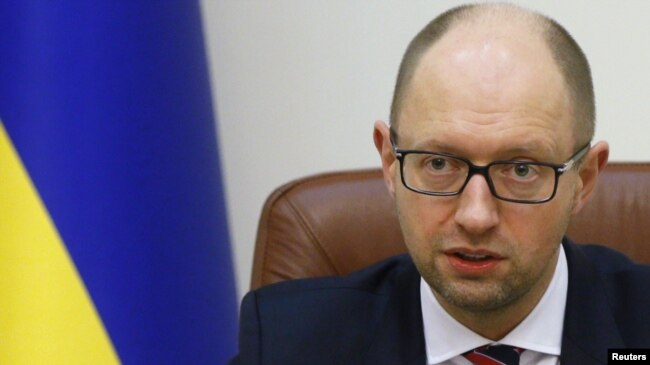 Former Ukrainian Prime Minister Arseniy Yatsenyuk (file photo)