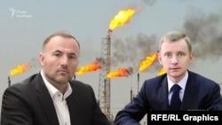 Бізнесмен Павло Фукс (л) та екс-заступник голови правління НАК «Нафтогаз України» Олександр Кацуба