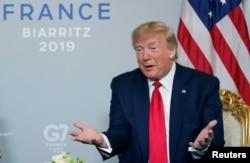 Дональд Трамп на саммите G7 в Биаррице. 26 августа 2019 года