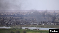 Під час одного з останніх боїв за Багуз, фото 20 березня 2019 року
