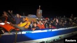 پناهجویان در ساحل لیبی