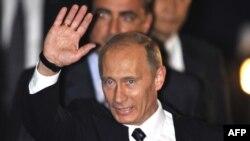 Прибытие Владимира Путина в Японию