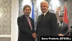 Evropski komesar Johanes Han i premijer Crne Gore Duško Marković, Podgorica